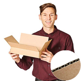 Brown Single Wall Flat Cardboard Boxes