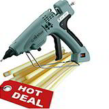 10 Pack Hot Melt Special Offer FREE Medium Duty Glue Gun