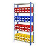 Rivet Bays For Parts Storage Bins