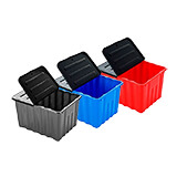 Plastic Storage Box with folding lid