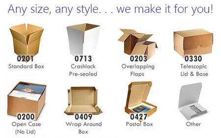 Custom Cardboard Box Styles