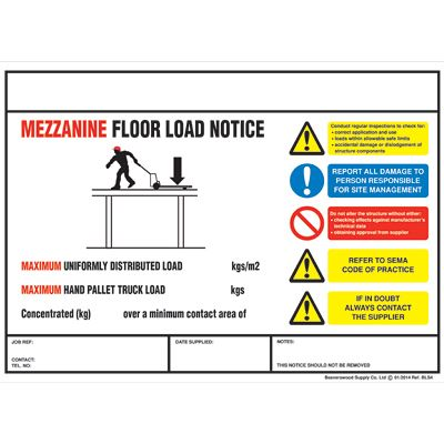 Weight Load Safety Notices Davpack