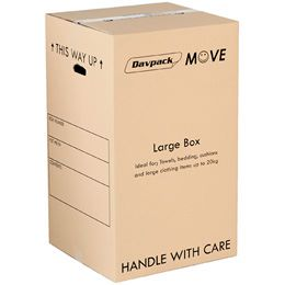 DAVPACK MOVE BOXES 456Lx456Wx780H D/W WITH HANDLE HOLES PACK
