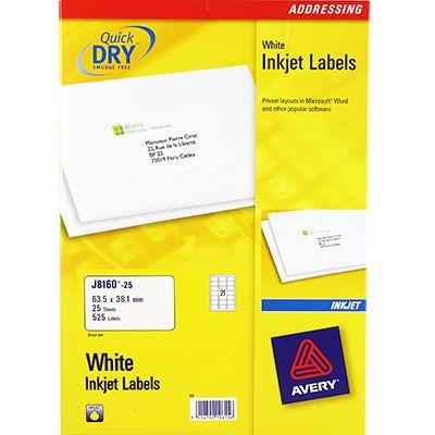 avery inkjet address labels davpack