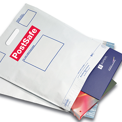 16 Choices Available · PostSafe Mailing Bags With Handles 85ae1a839308a