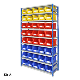 Boltless Shelving For Storage Bins Davpack