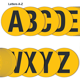 Yellow Floor Letter J 190mm Each Floor Letters Warehouse