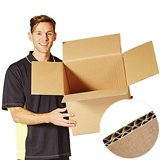 DW BROWN MEDIUM PARCEL SAVER POSTAL BOX 595Lx445Wx440H Pack 10 STITCH