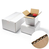 DW WHITE CARDBOARD BOX 250Lx200Wx150H Pack 10 GLUED