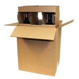 BROWN S/W SINGLE BOTTLE BOX - OUTER & INSERT - PACK 10