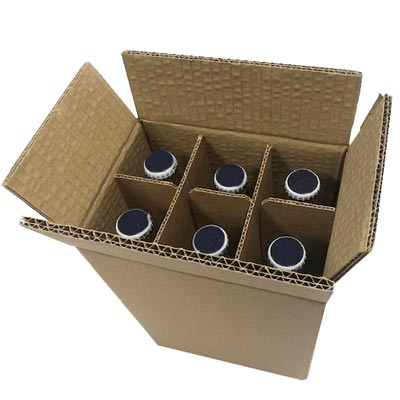 D/W LAGER BOX W/DIVIDERS - x6 BOTTLE PACK 330ml - 179Lx119Wx250H - PACK 10