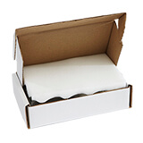 WHITE FOAM BOX 400Lx260Wx80H mm