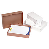 WHITE SOLID BOARD BOX & LID 215x203x57mm