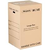 DAVPACK MOVE BOXES 456Lx456Wx780H D/W WITH HANDLE HOLES PACK OF 5