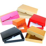 PRESENTATION BOX GOLD 78x41x32 SOLID LID 2 CHOC