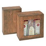 WC - WOOD EFFECT GIFT BOXES 220x149x75mm PACK 5