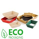 CARDBOARD HAMPER BOXES - 180x126x45mm - BROWN KRAFT WITH RED STARS