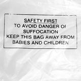 Polythene Warning Bags