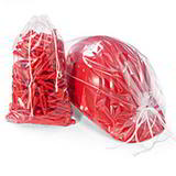 MINIGRIP POLYTHENE DRAWSTRING BAGS 150x210+20mm