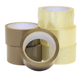 48mm ACRYLIC POLYPROPYLENE TAPE BUFF 28mu