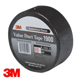 3M 50mm WATERPROOF CLOTH TAPE BLACK 1900 (1 ROLL)