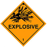 HAZARD LABELS EXPLOSIVE