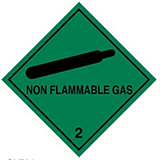 HAZARD LABELS COMPRESSED GAS