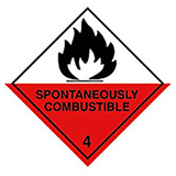 HAZARD LABELS FLAMMABLE SOLID