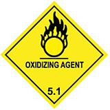 HAZARD LABELS OXIDIZING AGENT