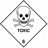 HAZARD LABELS TOXIC