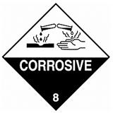 HAZARD LABELS CORROSIVE