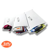 White Jiffy Airkraft Padded Bags