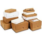 TELESCOPIC POSTAL BOXES - BROWN 125x85x48mm