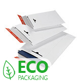 COLOMPAC WHITE SOLID BOARD ENVELOPES 170x245mm