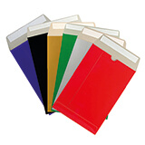 ALL BOARD COLOURED RED 324x229mm PEEL & SEAL