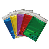 FOIL METALLIC GLOSS BAGS - 162x114mm RED (500 PK)