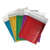 GLOSS FOIL BUBBLE BAGS - 165x140mm BLACK (200 PK)