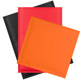 RED KRAFT BUBBLE ENVELOPE 165 x 165mm PACK 200