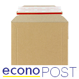 ECONOPOST BOARD ENVELOPES BROWN 164 x 180mm 100 PACK