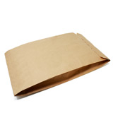 WC - PAPER SACK 1 PLY 70gsm - BROWN - 255mm x 75mm x 420mm - PACK 50