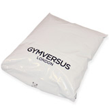 CUSTOM PRINTED WHITE MAILING BAGS - 300x200 + 75mm - 1 COLOUR /2 SIDE