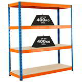 INDUSTRIAL SHELVING 400kg UDL CHIPBOARD 1980 x 1220 x 455