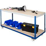 HD MOBILE WORKBENCH 915Hx1830Wx762Lmm BLUE/GREY