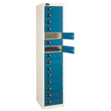 Fifteen Compartment Metal Storage Lockers