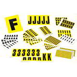 YELLOW LABELS 21x38mm PACK 10 - CARDS 0-9