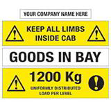 SELF-ADHESIVE WAREHOUSE INFO LABEL 25x200mm YELLOW