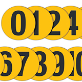 YELLOW FLOOR NUMBER - No. 0 - 190mm