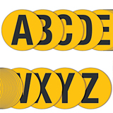 YELLOW FLOOR LETTER Letter.A 190mm EACH