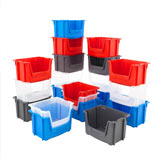PREMIUM STACKING PICK BIN - LARGE 320H x 495W x 370Dmm BLUE