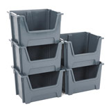 VALUE STACKING PICK BIN LARGE 320H x 495W x 390Dmm GREY